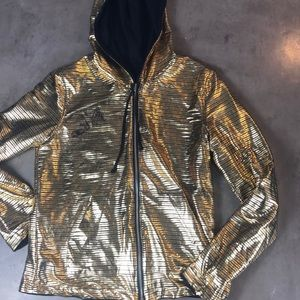 Betabrand Disco Reversible Gold/Black Hoodie